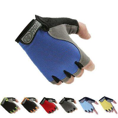 Sports Fingerless Gloves - Weight Lifting Gym Training Biker Driving Wheelchair