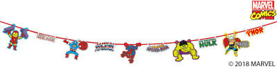 Disney Marvel Comics Deluxe Birthday Party Garland Bunting Banner Decoration