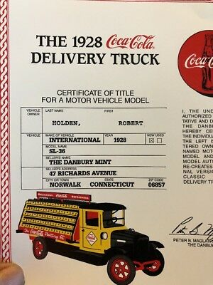 1928 International SL 36 Coca-Cola Delivery Truck Danberry Mint