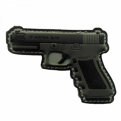 PVC Patch 'GLOCK G17' ABZEICHEN AUFNÄHER KLETT FUN RUBBERPATCH AIRSOFT PAINTBALL