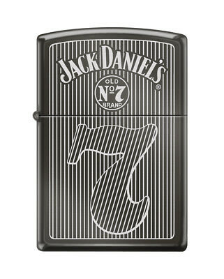 "Zippo ""Jack Daniel's Old No. 7"" Black Ice Finish Lighter,  0927"