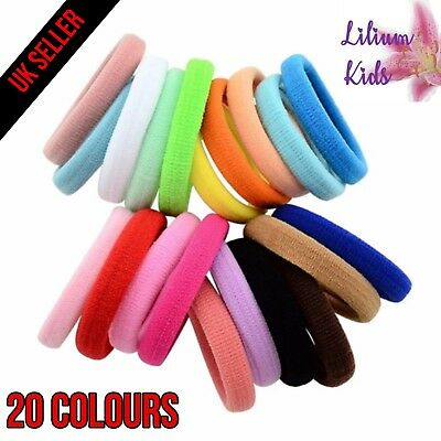 Colourful Hair Bands/Bobbles - Snag Free - 8 Pack Same Colour & 20 Mixed Pack