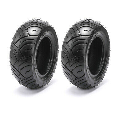 Pair 13 x 5.00 - 6 Slick Tyre Tubeless ATV QUAD Bike Gokart 4Wheeler Buggy Mower