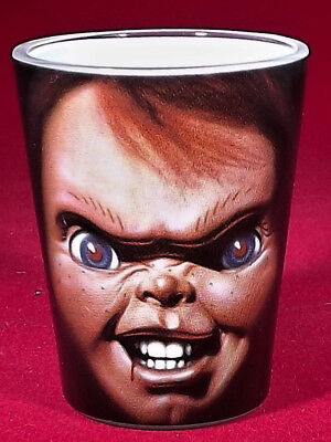 Childs Play Chucky Horror Shot Glass Solid Print all the way Around