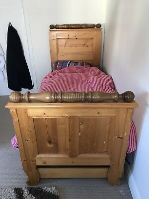 Antique wooden sleigh single bed