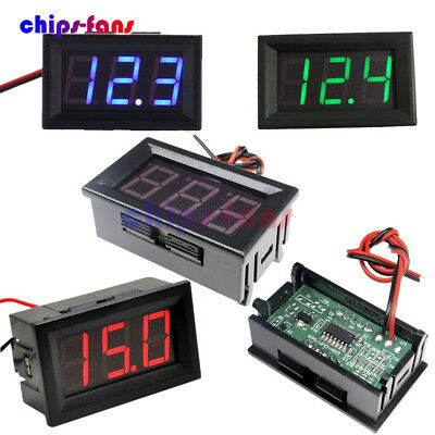 "0.56"" Color DC AC 5V-30V-500V Digital Voltmeter Voltage Panel Meter LED Display"
