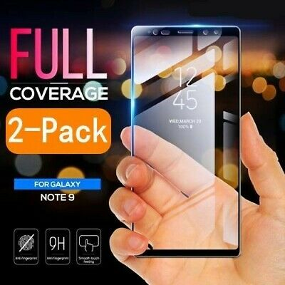 2Pcs Samsung Galaxy Note 9 9H Full Curved 3D Tempered Glass Screen Protector LOT