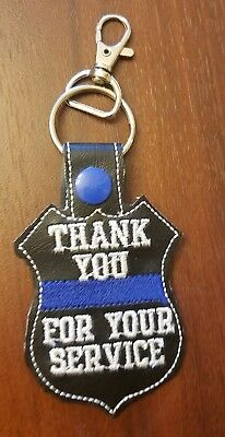 Police Thin Blue Line Key Chain