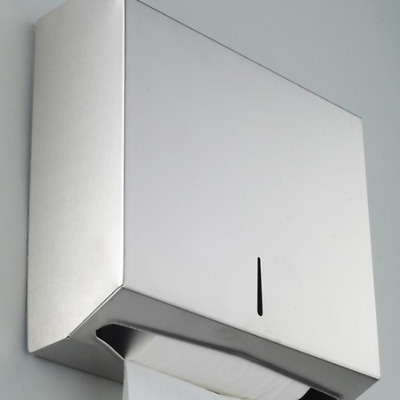 Wall Mounted Stainless Steel Paper Towel Dispenser Storager Lock Toilet