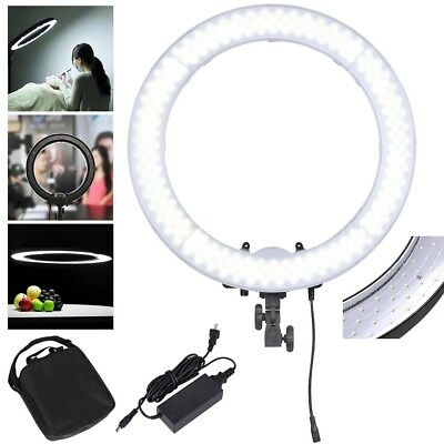 "55W LED SMD Ring Light Portable Makeup Photo Video 19"" 5500K Dimmable Lighting"
