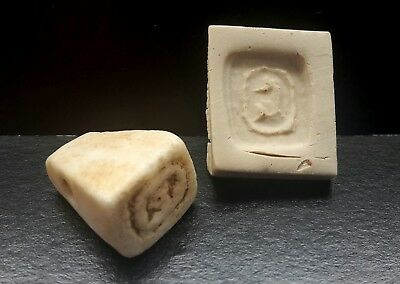 Egyptian Carved Marble Stamp Seal Hieroglyphic Amulet Late Period  664-332 Bc