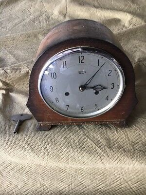 Vintage Smiths Enfield Clock Mantle Antique Free Shipping Rare Old England Shelf
