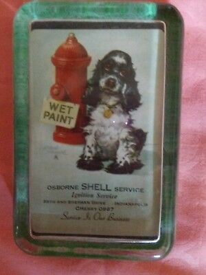 "Vintage Advertise Paperweight  Osborne Shell Service Features ""Butch"" Wet Paint"