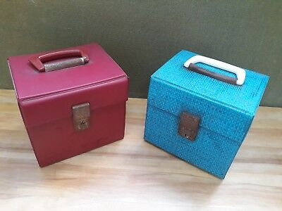 "2 vintage 7"" / 45 rpm singles carry cases / DJ boxes."
