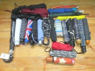 Job Lot of 24 Compact Umbrella Male and Female Designs Various Condition #Y256
