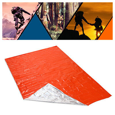 Outdoor Emergency Blanket Safety Survival Insulating Mylar Thermal Heat HS1