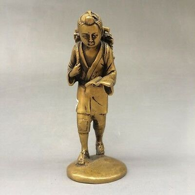 Chinese antique old extremely pure brass sculpture d02