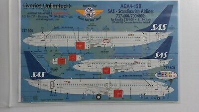 Liveries Unlimited B737-600/-700 /-800 SAS in  1:144