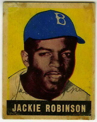 Jackie Robinson 1948 Rookie TRADING CARD  PHOTO 5x7 with frame
