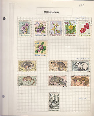 CZECHOSLOVAKIA 1967  Collection On old Album Page VFU Removed for Ship.(b)