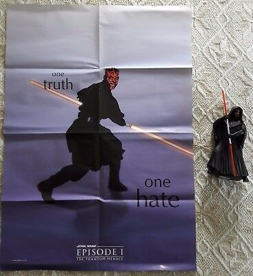 STAR WARS Phantom Menace / Solo: Darth Maul Poster & figure + Amidala Poster