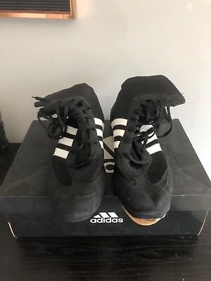 Adidas Boxing Box Hog 2 Boots Black/White Mens Size 10  - In Need of Repair