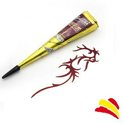 HENNA NATURAL PARA TATUAJES TEMPORALES PASTA PINTURA TATTOO 25g COLOR ROJO