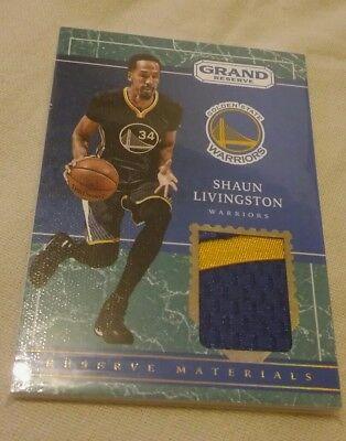 2016-17 Panini Grand Reserve Materials 2-Color Patch MARBLE Shaun Livingston /10