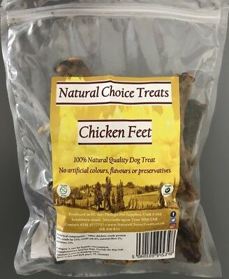 Large Dried Natural Tasty Chicken Feet Dog Pet Chew Food Snack Treat