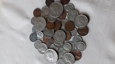 Job lot of old USA/US/United states of america coins-  inc 1894 1 cent