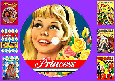 Princess Annuals & Schoolgirl Picture Library On DVD Rom