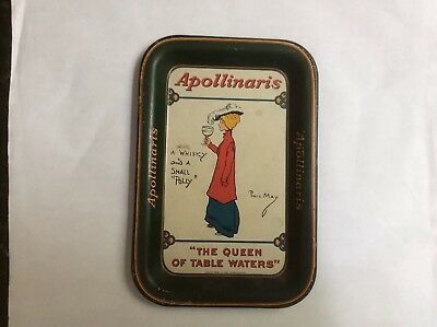 """Antique APOLLINARIS Tip Tray. """"The Queen Of Table Waters"""""""
