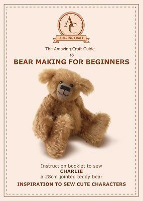Lukas Teddy Bear Sewing Pattern Pdf 24cm 9 1 2in Fully Jointed
