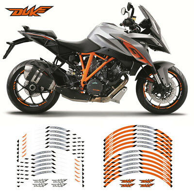 "Motorcycle Rim ""17 Stripes Wheel Decals Tape Stickers For Ktm Duke"