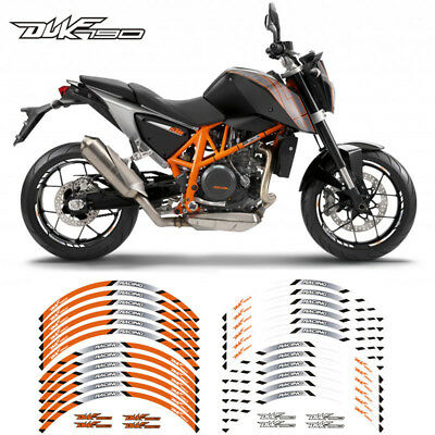 """Motorcycle Rim """"17 Stripes Wheel Decals Tape Stickers For Ktm Duke 790"""