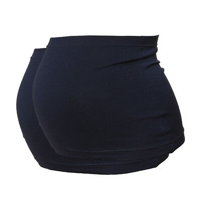 Plus Size Maternity Belly Band/Bump Band by Harry Duley. 2 Pack. Navy & Navy
