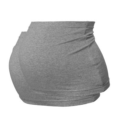 Plus Size Maternity Belly Band/Bump Band by Harry Duley. 2 Pack. Grey & Grey