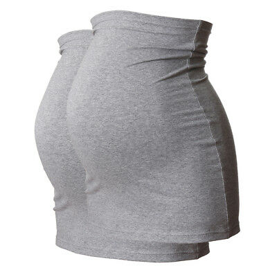 Plus Size LONG Maternity Belly Band/Bump Band by Harry Duley. Pack of 2 x Grey