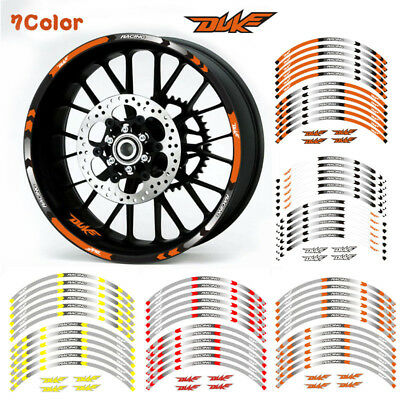 "Fit For Ktm Duke Motorcycle Rim ""17 Stripes Wheel Decals Tape Stickers"