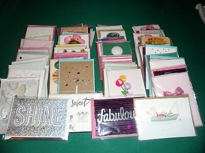 Hallmark mixed GREETING  Card Lot of 75 Brand New! $450++ Retail value!