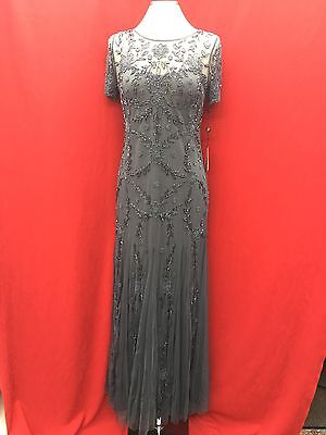 Adrianna Papell Dress /new With Tag/size 6/retail$249/charcoal/mother Of Bride