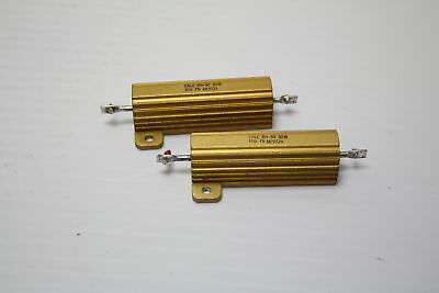 Dale RH-50 50W 10 Ohm  1% Power Resistor ( lot of 2 ) Used