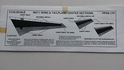Flight Path MD-11 center sections in 1:144
