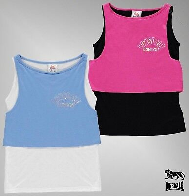 Girls Lonsdale Casual Lightweight Sporting Activities Layer Vest Sizes 7-13 Yrs