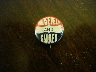 Small Roosevelt and Garner Campaign Pin
