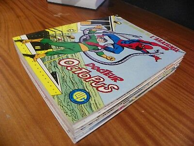 Lot Comic UNE AVENTURE DE L'HOMME ARAIGNEE (SPIDERMAN) N° 1,2,3,4,5,6,7,8,9