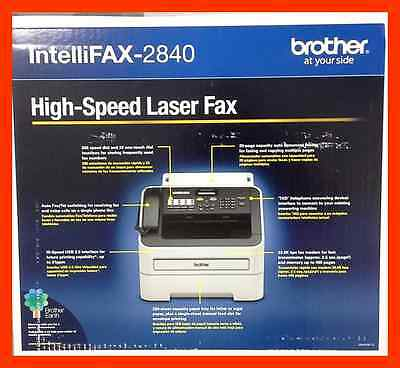 NEW Brother FAX 2840 IntelliFax-2840 High-Speed Laser FAX Machine