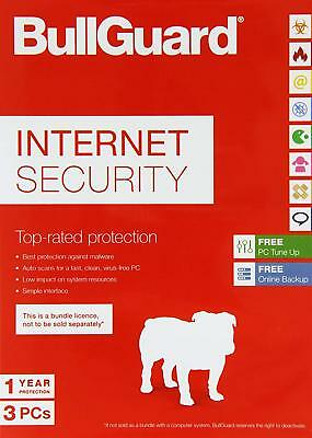 BullGuard Internet Security 3 PC Users 1 Year Windows License - Download