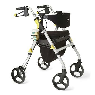 Medline Premium Empower Folding Rollator Mobility Walker with 8-inch Wheels,...