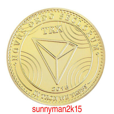 TRX Zinc Alloy Gold Plated Non-currency ​Bitcoin Commemorative Coin Collection